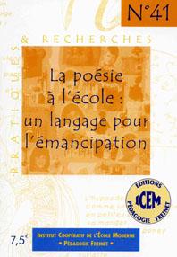 La poésie à l'école un langage pour l'émancipation