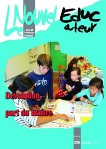 Nouvel Educateur n° 226 - Image Couverture